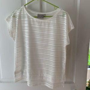 Dantelle white top with stripe detail
